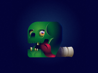 Zombie 36daysoftype illustrations type zombie