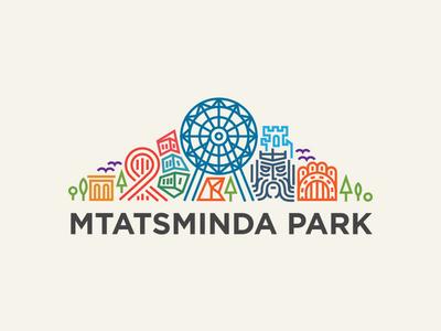 MtatsmindaPark logo attraction roller coaster entertainment park logotype.mark amuse line