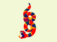 Ophidiophobia fear stripes symbol 69 illustration snake