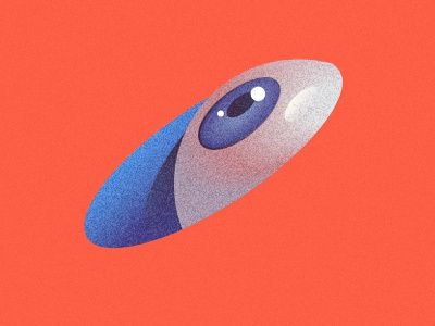 👁️ grain looking gradient logo animation illustration eye