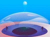 Oizys 👁️ gradient noise disolve tear tears eyeball eye illustration design illustration