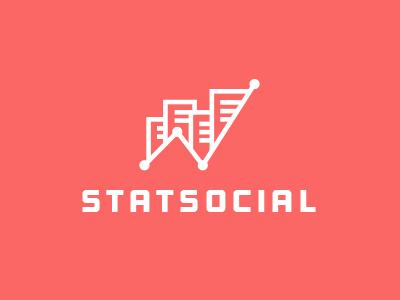 Socialstat logo mark social statistic analytics line chart