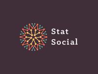 StatSocial logo mark sun statistic social analytics