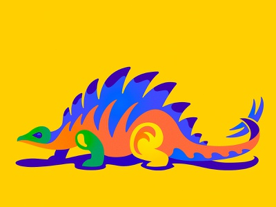 Stegosaurus dinosaurus dinosaur dino symbol icon vector design illustration