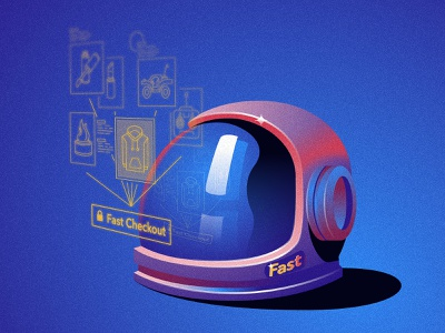 Astronaut astronaut helmet space icon illustration