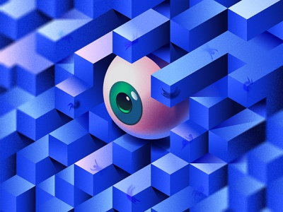 Eye's Cubes  👁️ simple design eyes cube illustration art eye icon illustration illustrator