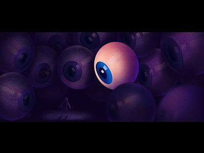 All eyes on you 👁 watch watching eyes eye procreate art procreate illustration