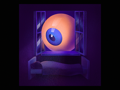 Night Watch watching eye procreate illustration