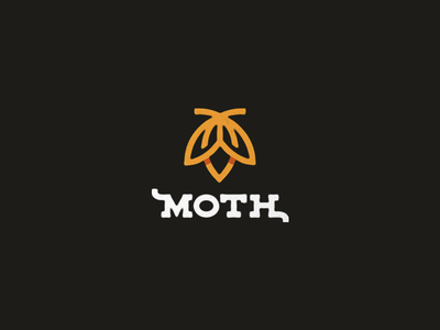 Moth moth insect mark logo type letters