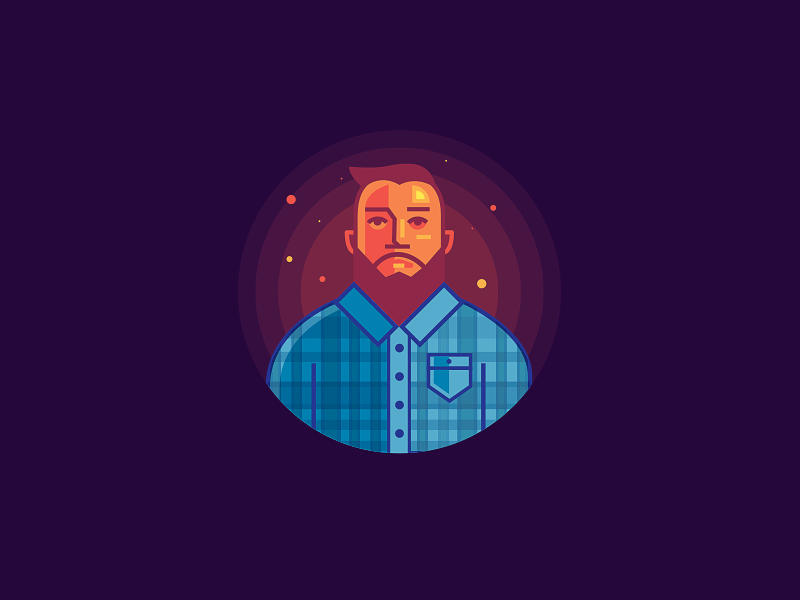 Portrait illustration portrait avatar simple selfie