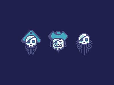 Yo ho ho pirates characters icon icons skull