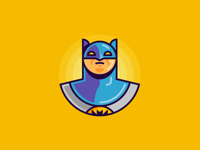 Bat dc bat hero comic avatar icon illustration batman