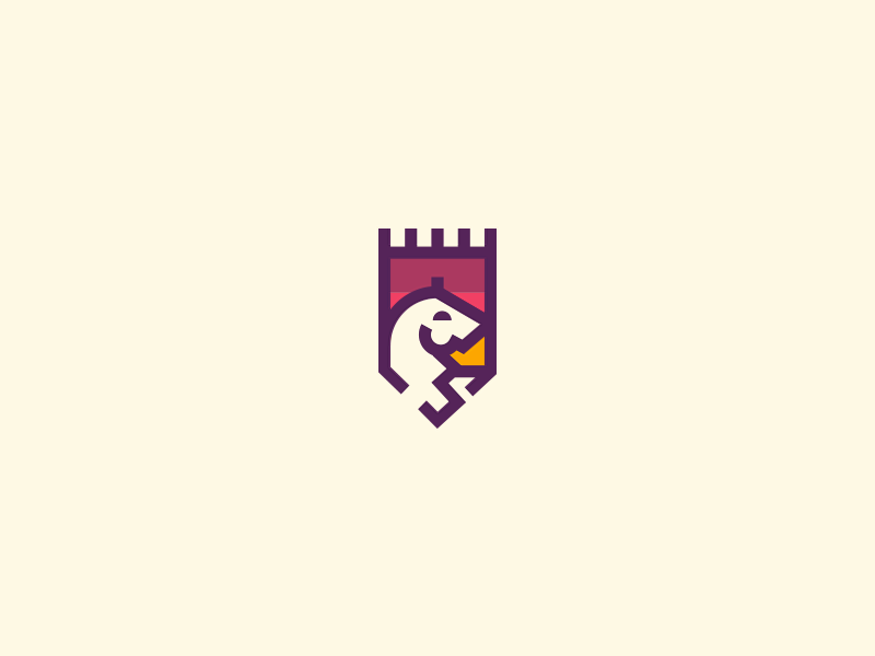 Horse Crest castle illustration logo mark crest horse