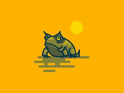 Horned Frog sunsetsketch sun markers paper illustration sketches horned frog