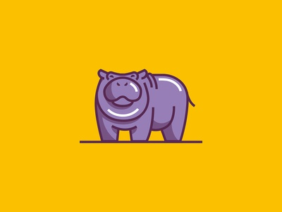 Hippo hungry illustration flood animal hippo