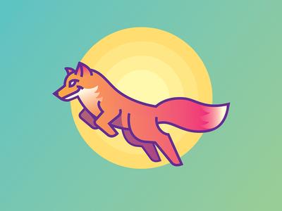 Foxy Sun sun lettering illustration line mark foxy fox