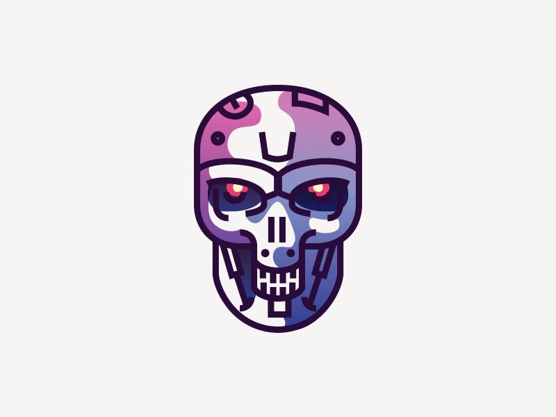 T 800 mark head skull illustration movie t-800 terminator