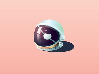 Space Pirate kumbari nick animation logo illustration helmet icon patch eye skull pirate space