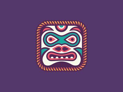Kwakwaka illustration icon animal bear native masks mask indian