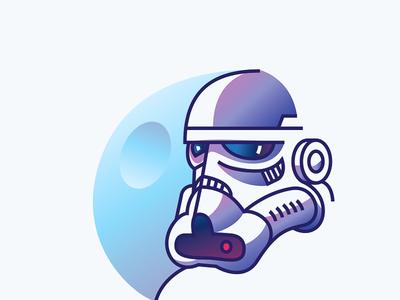 Stormtrooper illustration character star wars stormtrooper