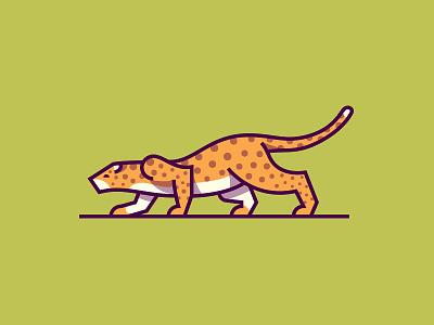 Jaguar simple mark illustration animal cat jaguar
