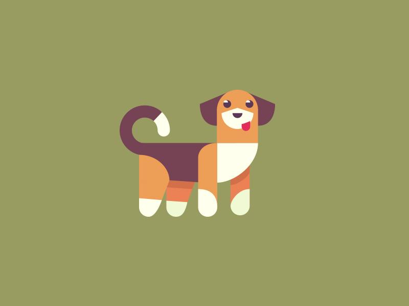 Beagle happy simple illustration beagle dog