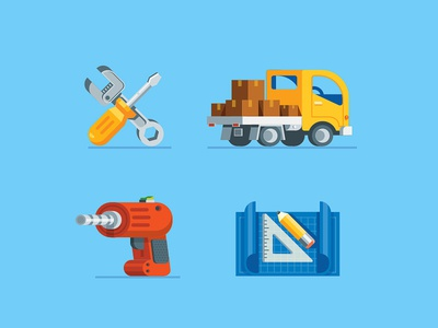 Icons 2 blueprint tool drill truck simple icons icon