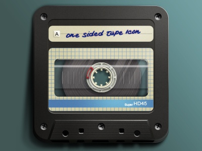 Onesidedtape nick kumbari tape cassette one sided tape icon hd apple ios ios icon logo