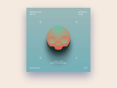 Skull-001 mark layout illustration vanitas daily poster skull