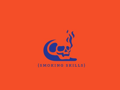 smokin smoke mark skills smoking illustration vanitas daily poster skull