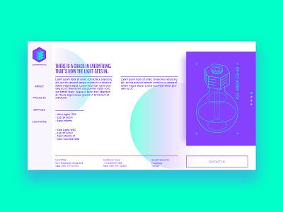 Electroweb Lite layout service electronic illustration site ux ui web page web bulb