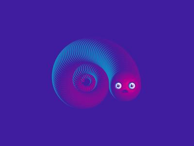 Confusedude emojy smile spiral gradients