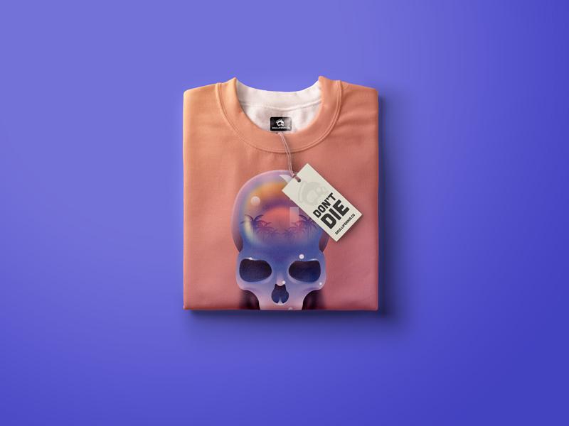 Skull Tshirt summer palms illustration shirt t shirt skullifornia skull