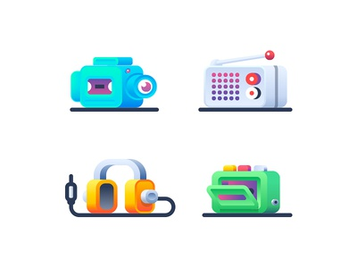 Audio Video headphones player camera radio video audio illustration icon icons