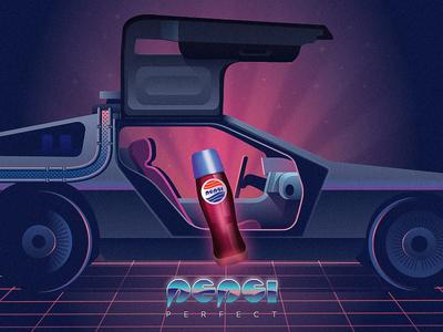 Pepsi Perfect poster illustration back to the future pepsi