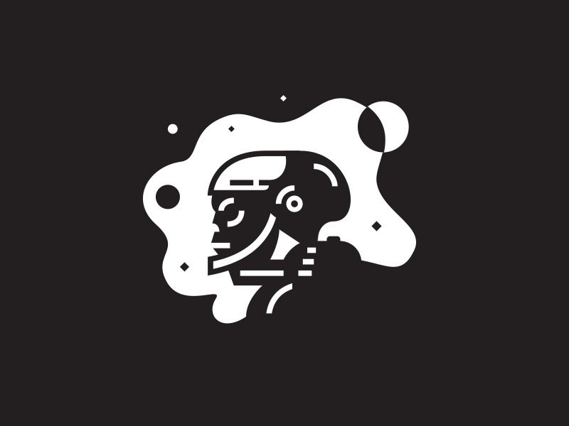 Space skull galaxy stars illustration astronaut helmet space