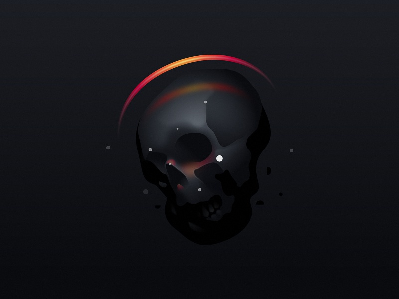 Drowner Saint drowner saint mark layout illustration vanitas daily poster skull