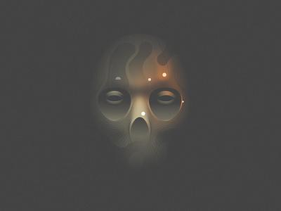 Camo mark layout illustration vanitas daily poster skull