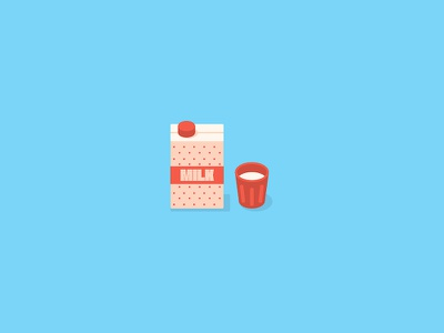 Milk dots flat simple illustration glass icon milk