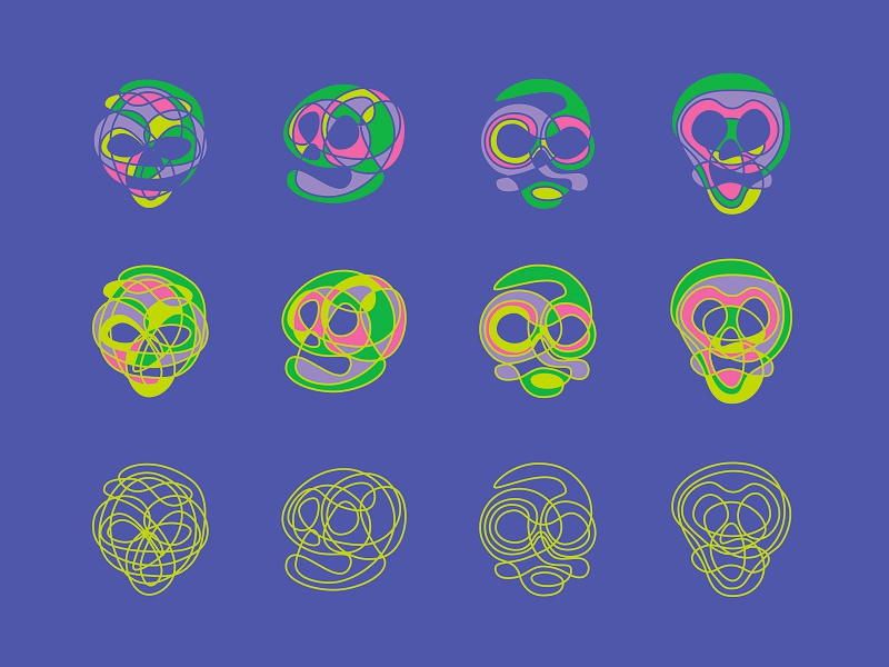 Curvature tool illustration skulls skull lines curves curvature