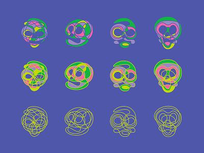 Curvature tool illustration skulls skull lines curves curvature