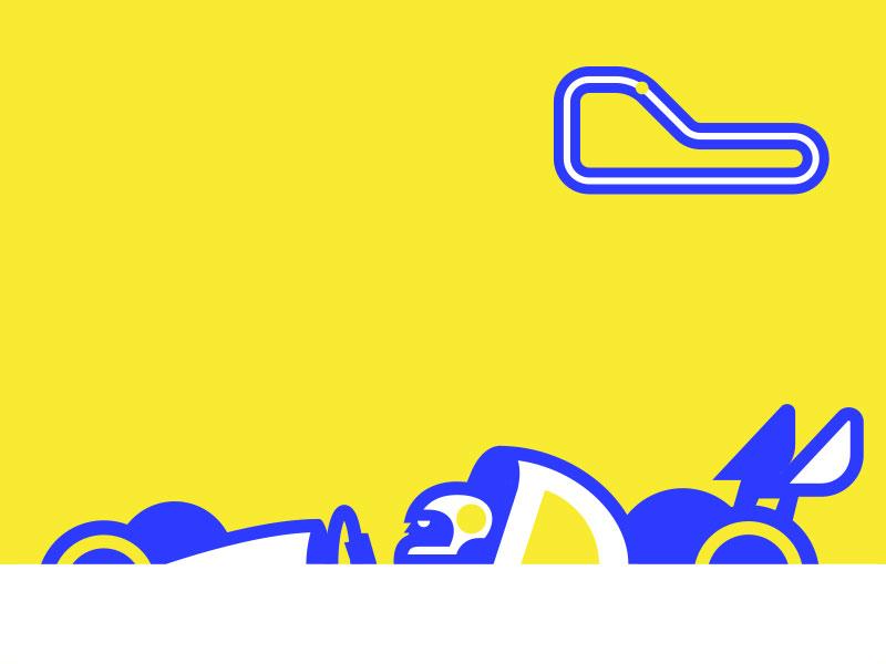 F-1 Bolid simple illustration formula car racer
