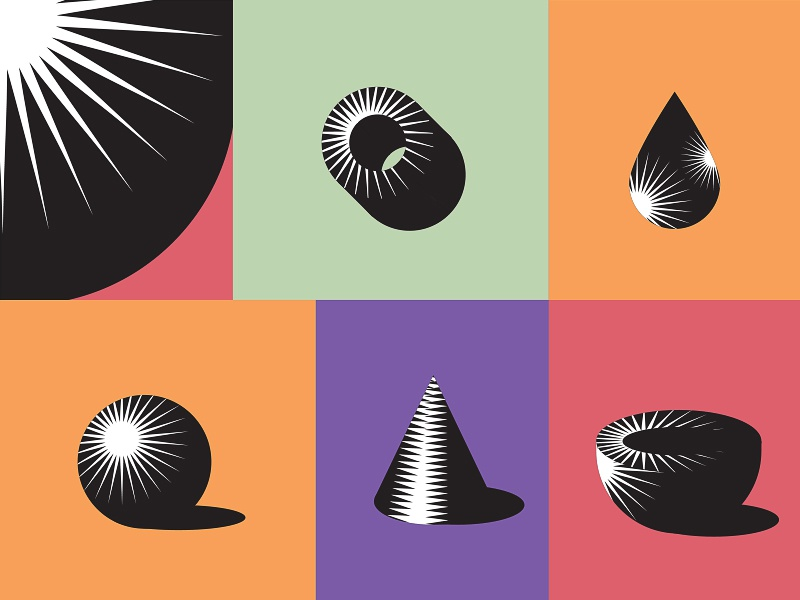 Shapes - Shades pattern illustration minimal geometry shades shapes