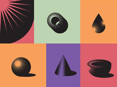 Shapes - shades less color v.2 geometry mosaic logo mark default shape