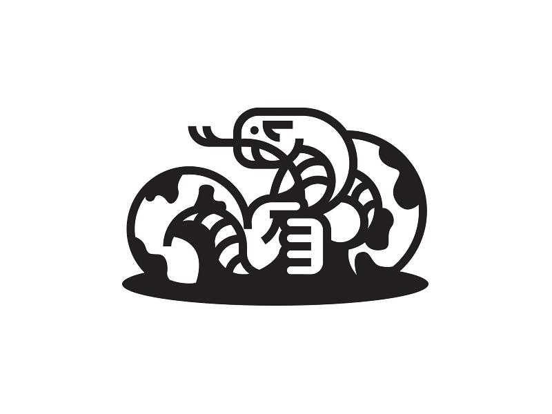 Selfchoker Snake reptile symbol lines selfchoker choke hand snake