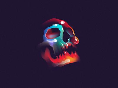 Prayer mark layout illustration vanitas daily poster skull