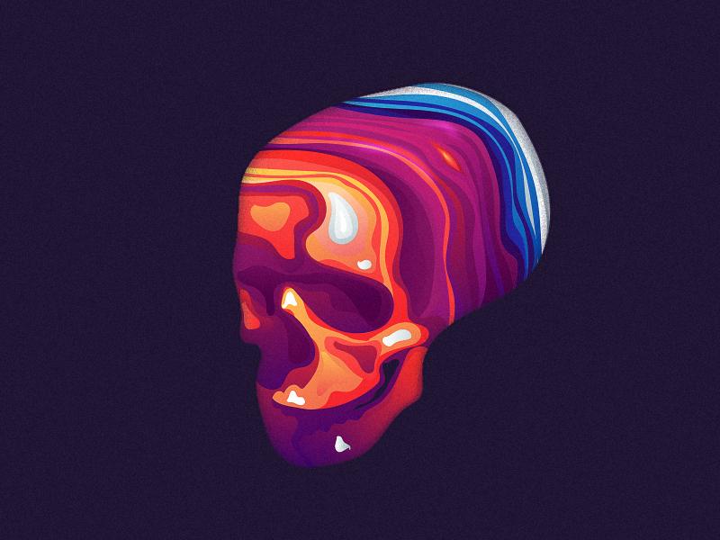 skullayer tombs color mark layout illustration vanitas daily poster skull