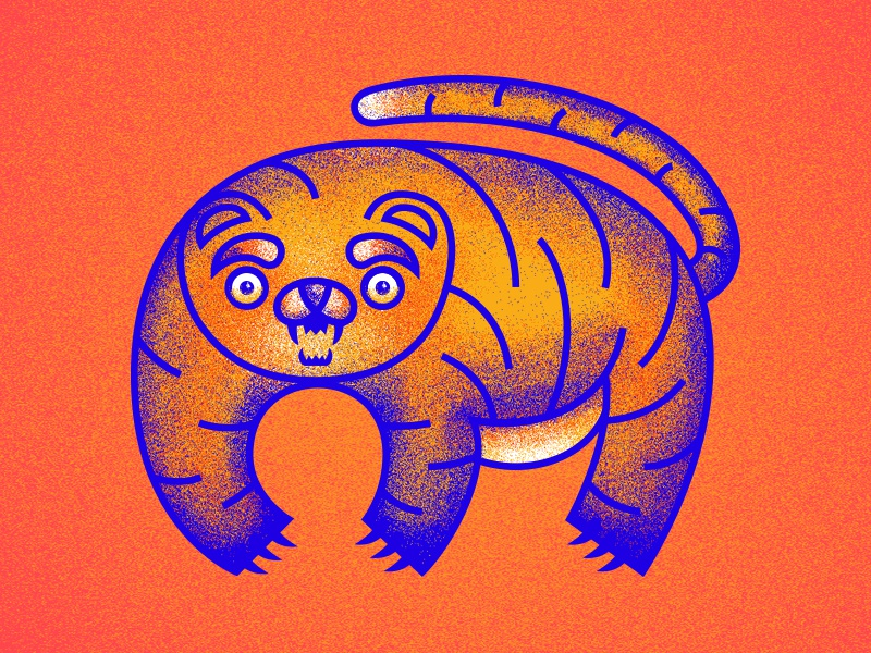 Teddy face stupid illustration lines texture dissolve stripes tiger cat bear animal