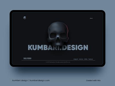 Dribbble wix portfolio simple layout site web