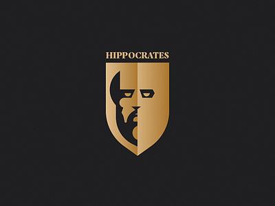 Hippocrates portrait illustration crest portrait face symbol icon mark symbol logo